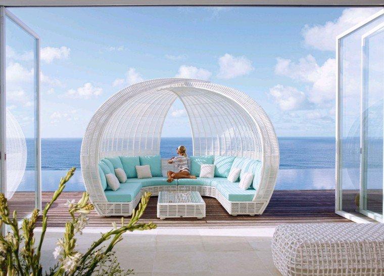 Salon Jardin Blanc Design