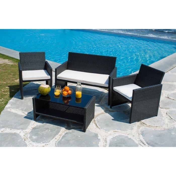 Salon de jardin table et 4 fauteuils encastrables - Abri de jardin ...