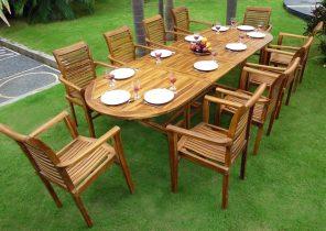 Mobilier de jardin coloré - Abri de jardin et balancoire idée