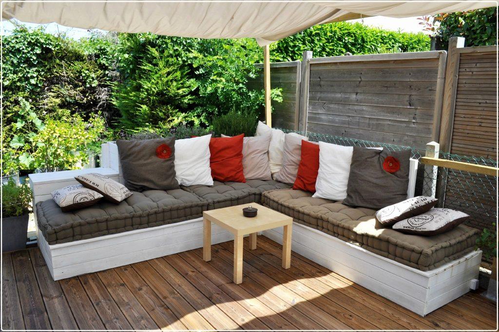Salon de jardin bois fait maison - Abri de jardin et balancoire idée