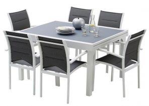 Table de salon de jardin en aluminium - Abri de jardin et balancoire ...
