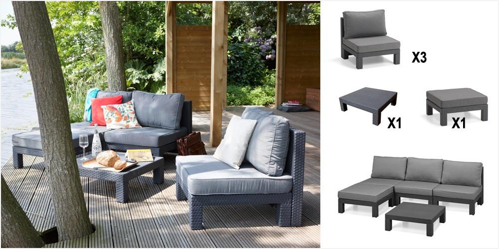 salon de jardin sevilla allibert abri de jardin et. Black Bedroom Furniture Sets. Home Design Ideas