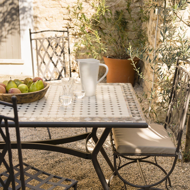 Table de salon de jardin mosaique - Abri de jardin et ...