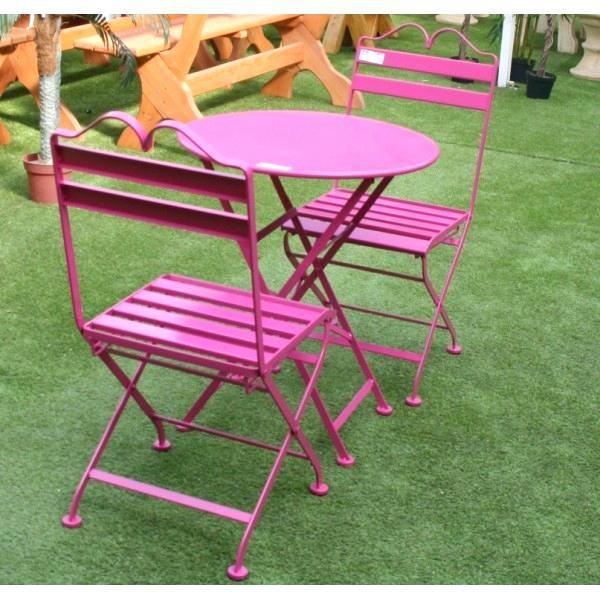 Salon de jardin métal coloré - Abri de jardin et balancoire idée