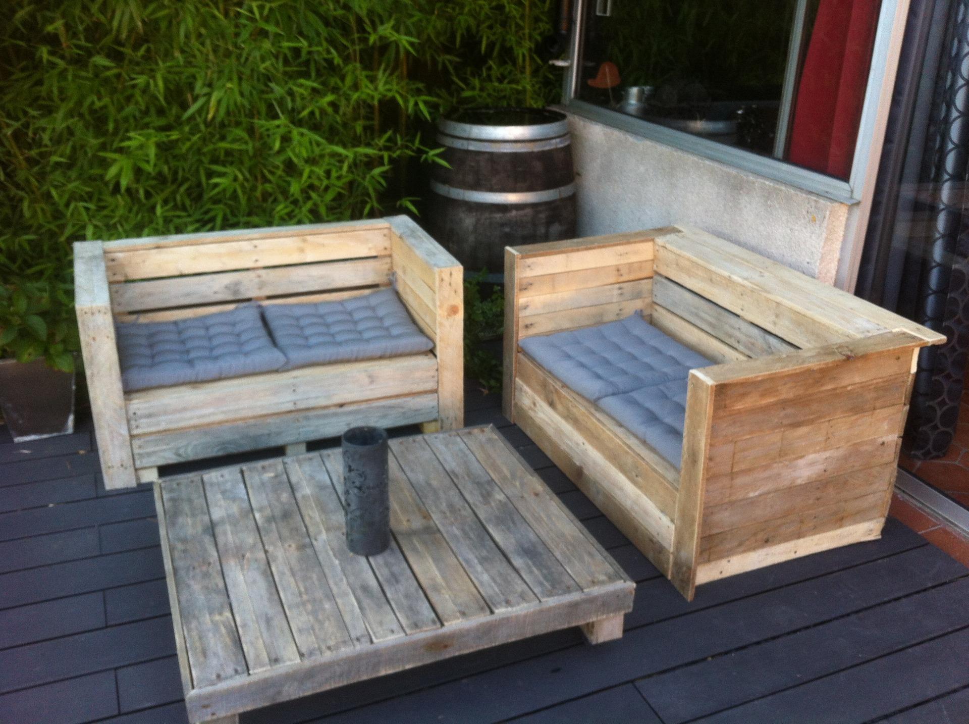 Salon de jardin palette acheter - Abri de jardin et ...