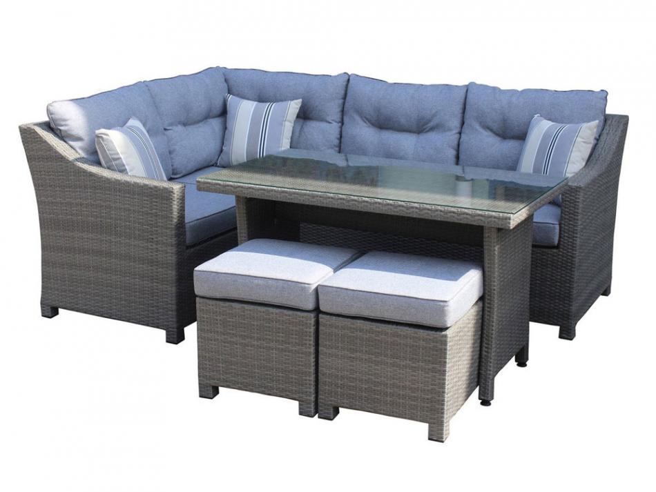 Salon de jardin d\'angle table haute - Abri de jardin et balancoire idée