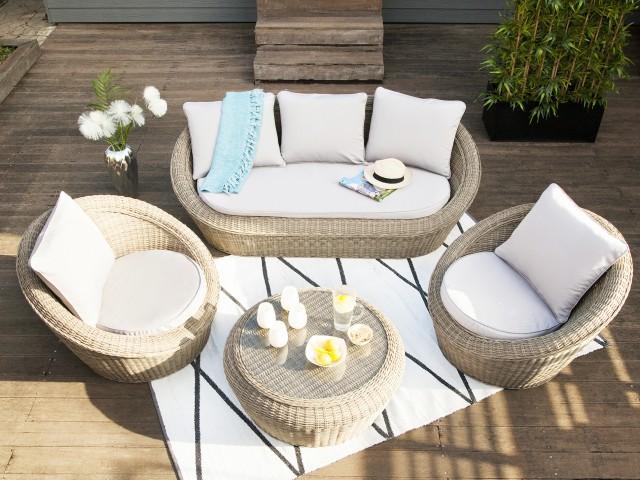 Salon de jardin blanc soldes - Abri de jardin et balancoire idée