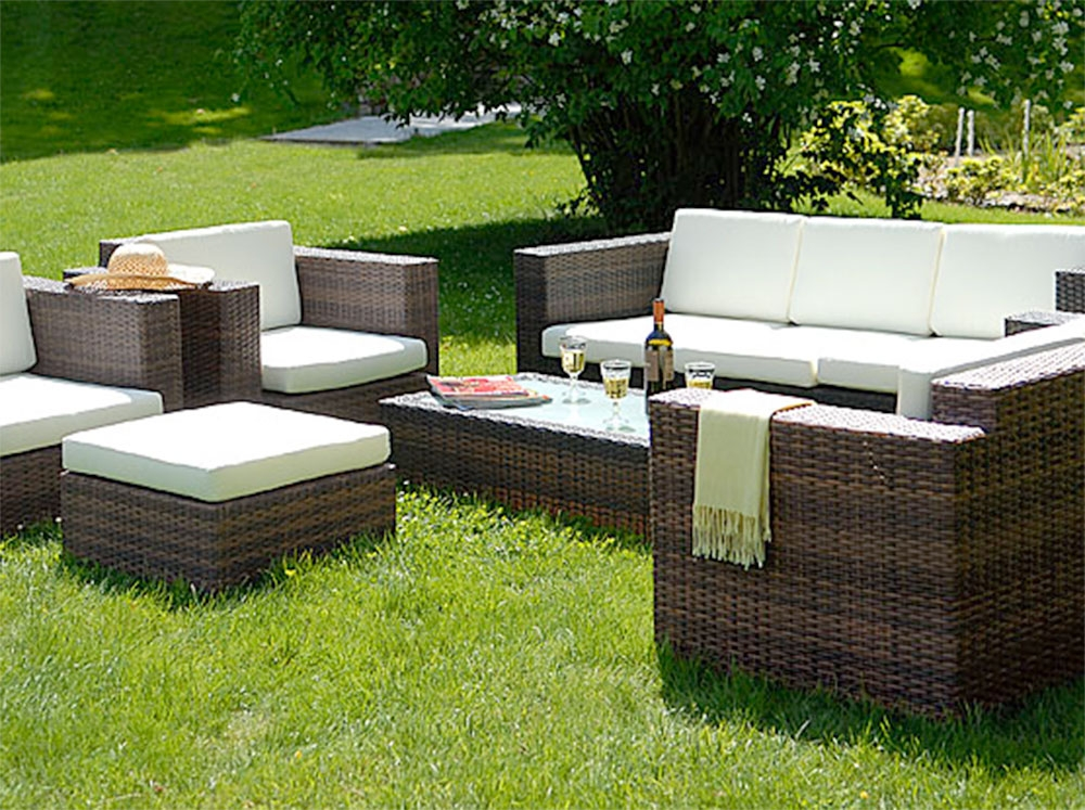 salon de jardin rotin tresse abri de jardin et. Black Bedroom Furniture Sets. Home Design Ideas