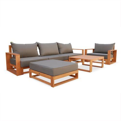Salon de jardin alu bois composite - Abri de jardin et balancoire idée