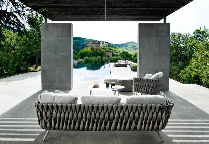 Salon de jardin design de luxe