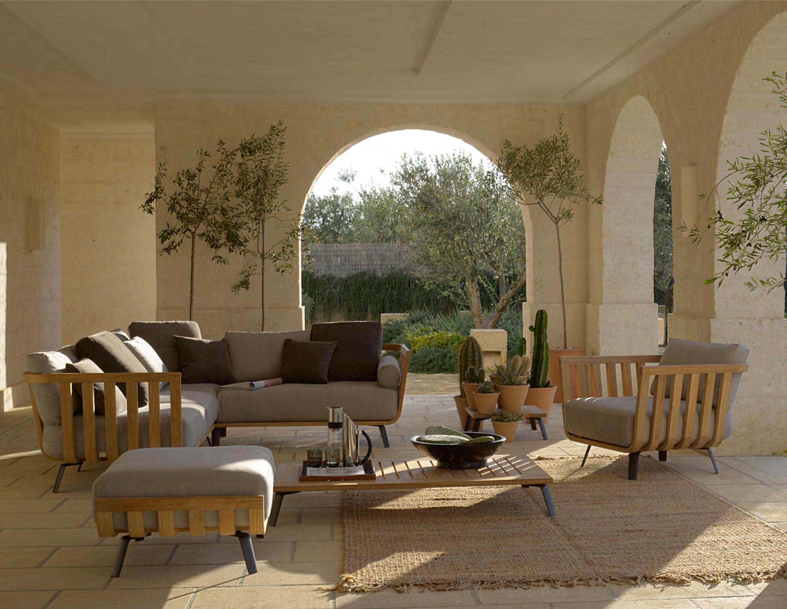 Salon jardin bois unopiu - Abri de jardin et balancoire idée