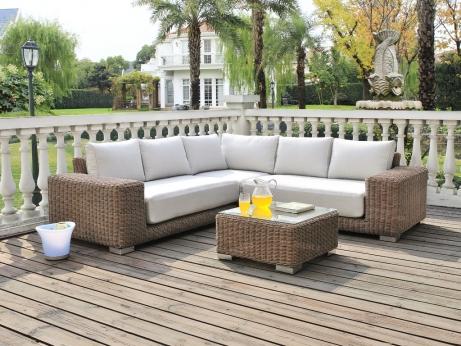 Salon de jardin canapé d\'angle - Abri de jardin et ...