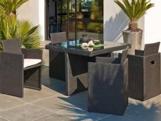 Salon de jardin petit balcon - Abri de jardin et balancoire idée