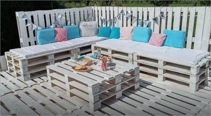 Salon de jardin avec palette en bois - Abri de jardin et ...