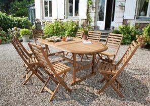 Renover salon de jardin acacia - Abri de jardin et balancoire idée