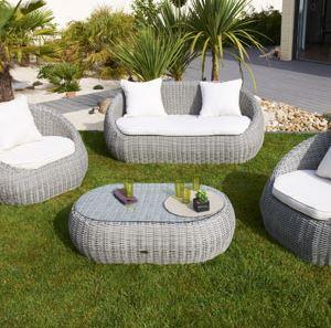 Salon bas de jardin cdiscount - Abri de jardin et balancoire idée