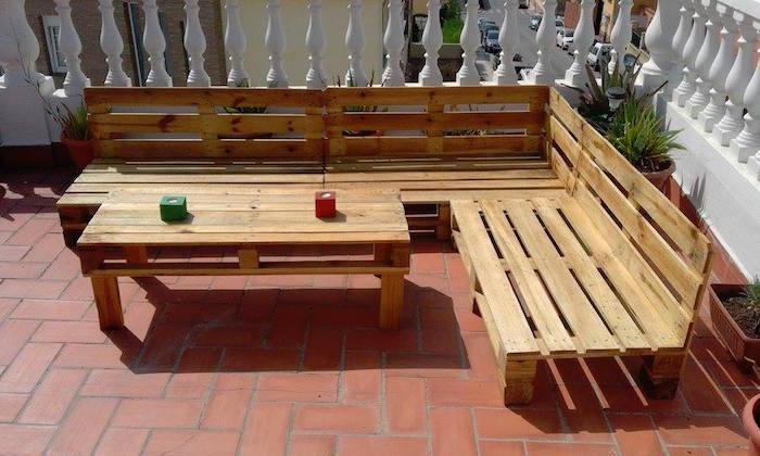 Creation salon de jardin palette