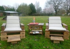 Salon de jardin en résine tressée table ronde - Abri de jardin et ...