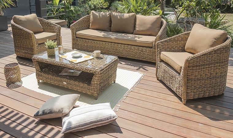 Salon de jardin resine tresse marron - Abri de jardin et balancoire idée
