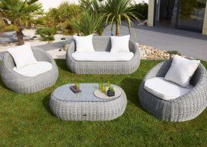 Salon de jardin d\'angle modulable - Abri de jardin et balancoire idée