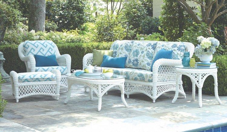 Salon de jardin rotin blanc - Abri de jardin et balancoire idée