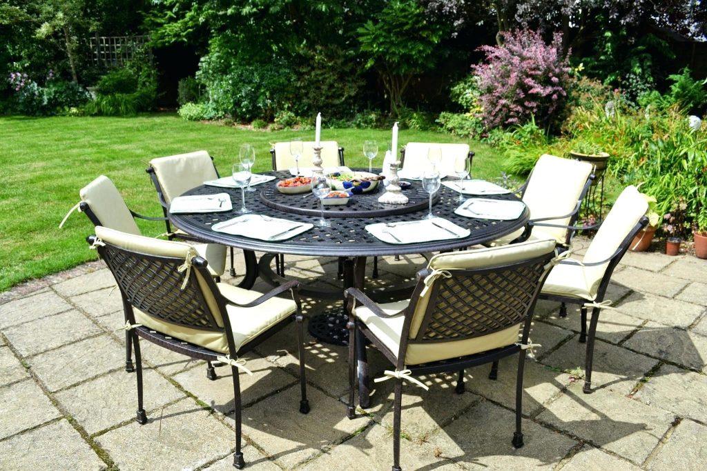Salon de jardin table ronde en verre - Abri de jardin et balancoire idée