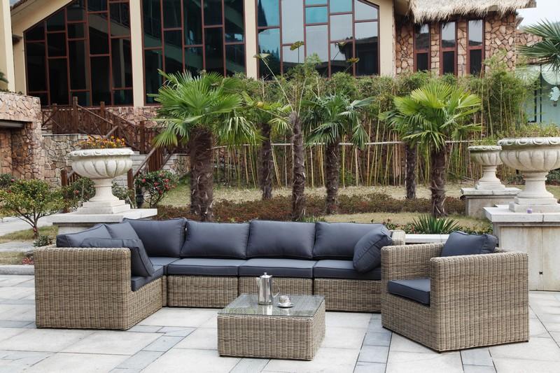 Salon de jardin en resine tressee modulable - Abri de jardin ...