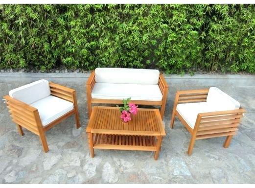 Salon de jardin en bois exotique pas cher - Abri de jardin et ...