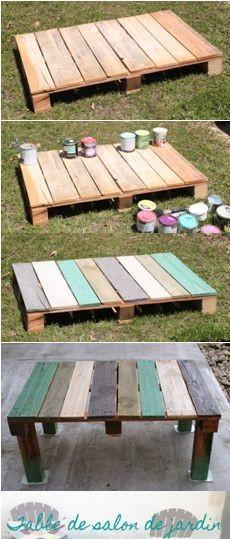 Salon de jardin bois recyclé - Abri de jardin et balancoire idée