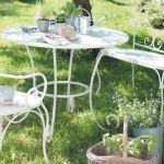 Mobilier jardin metal blanc - Abri de jardin et balancoire idée