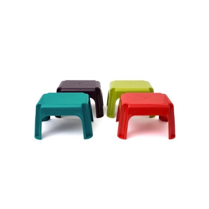 Table salon de jardin rouge - Abri de jardin et balancoire idée