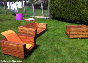 Salon de jardin poly rotin gris - Abri de jardin et balancoire idée