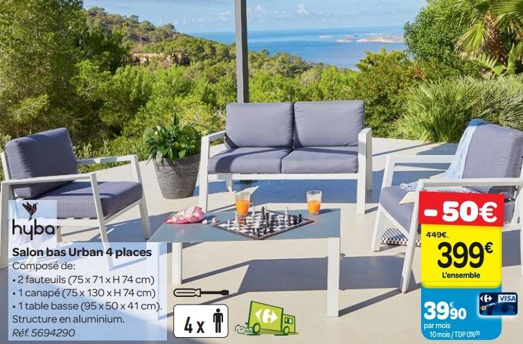 Salon de jardin encastrable 4 places carrefour - Abri de ...