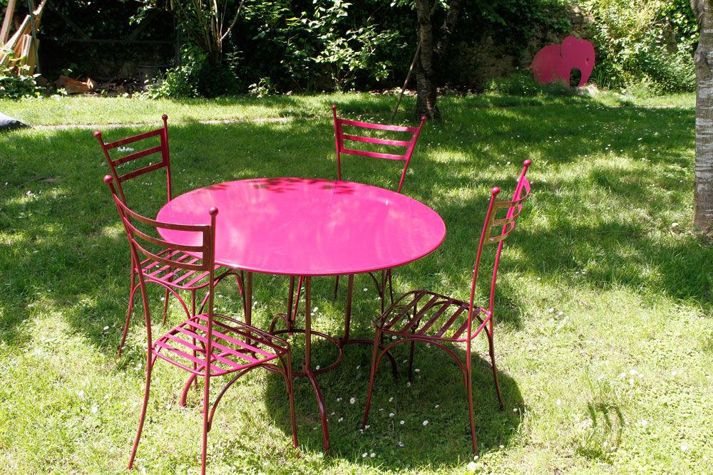 Salon de jardin fer forgé moderne - Abri de jardin et balancoire idée