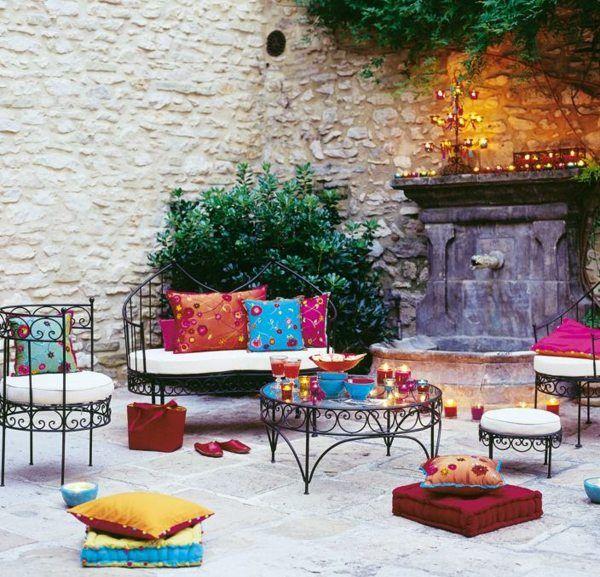 Salon de jardin fer forge style marocain - Abri de jardin et ...