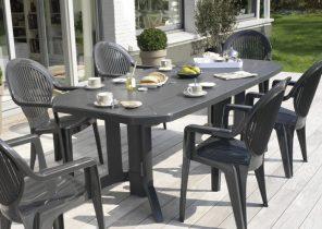 Salon de jardin table et chaises grosfillex - Abri de jardin et ...