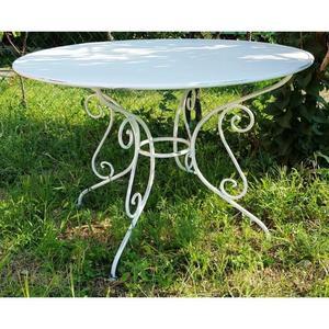 Salon de jardin fer forgé table ovale - Abri de jardin et ...
