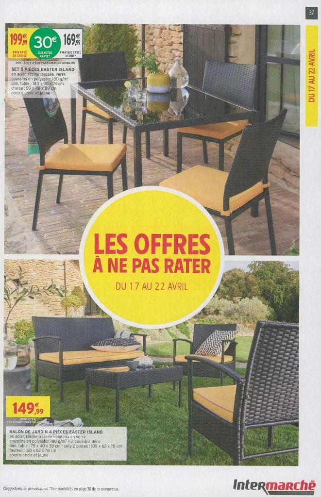 Intermarché Table De Jardin