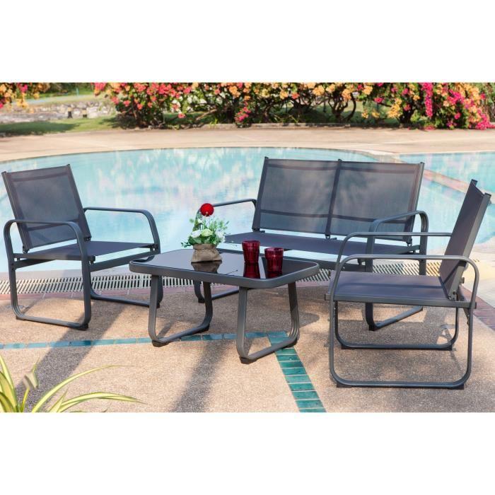 Salon de jardin fauteuil et table basse - Abri de jardin et ...