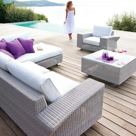 Salon de jardin java gris - Abri de jardin et balancoire idée