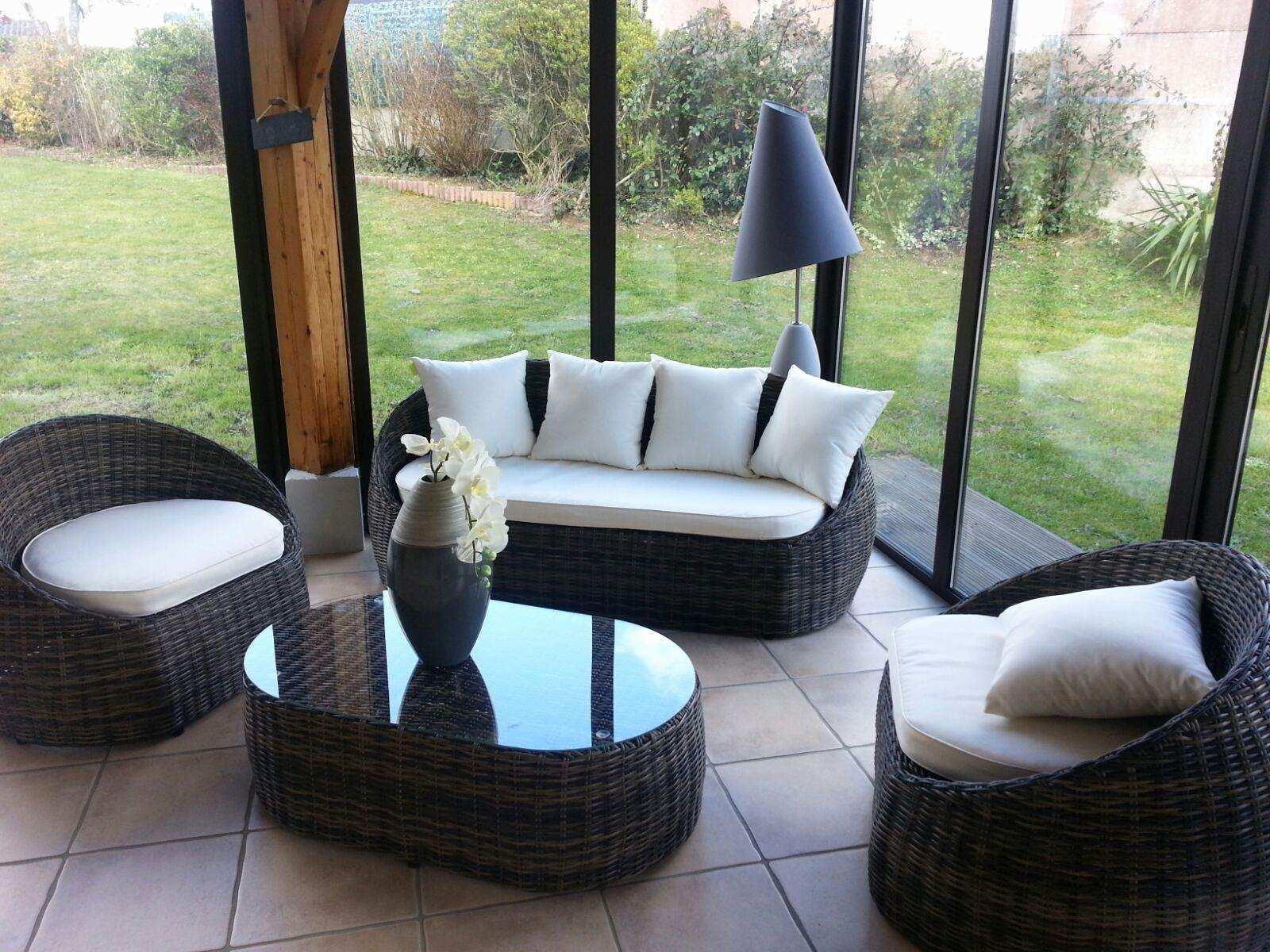 Salon de jardin d\'intérieur - Abri de jardin et balancoire idée