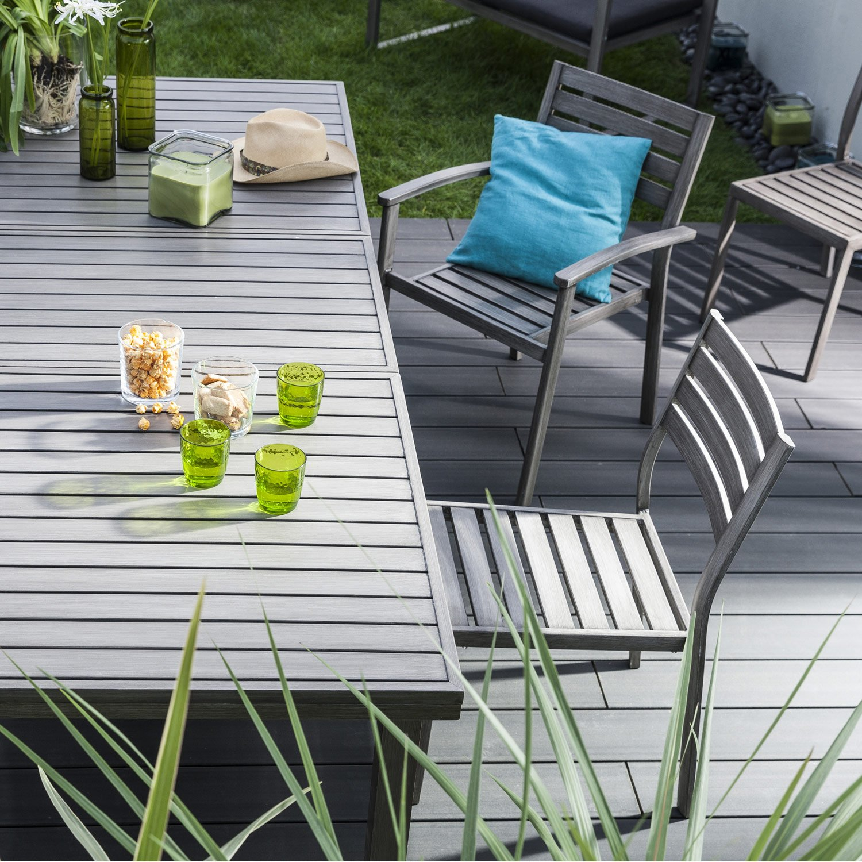 Salon de jardin antibes naterial gris - Abri de jardin et balancoire ...