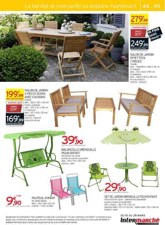 salon de jardin pvc intermarch abri de jardin et. Black Bedroom Furniture Sets. Home Design Ideas