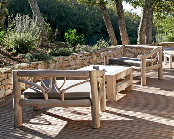 Salon de jardin fer et bois - Abri de jardin et balancoire idée