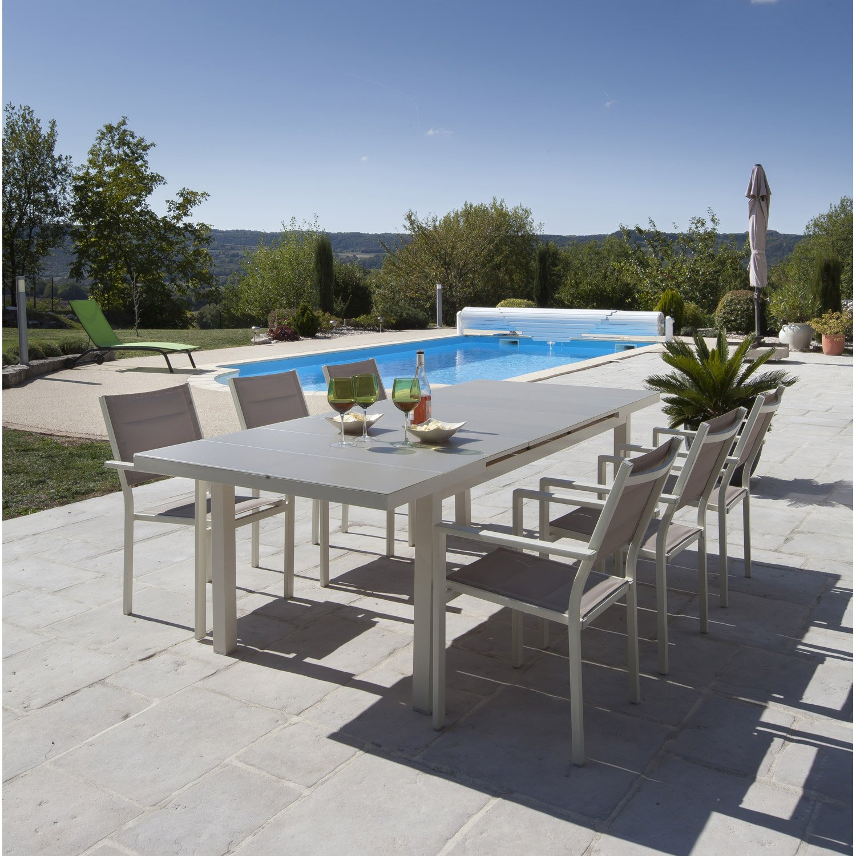 Emejing Table De Jardin Aluminium Taupe Photos - House Design ...