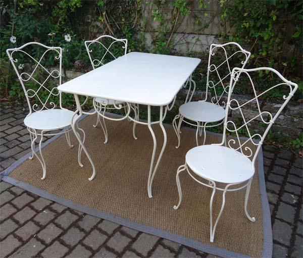 Prix salon jardin fer forge ancien - Abri de jardin et balancoire idée