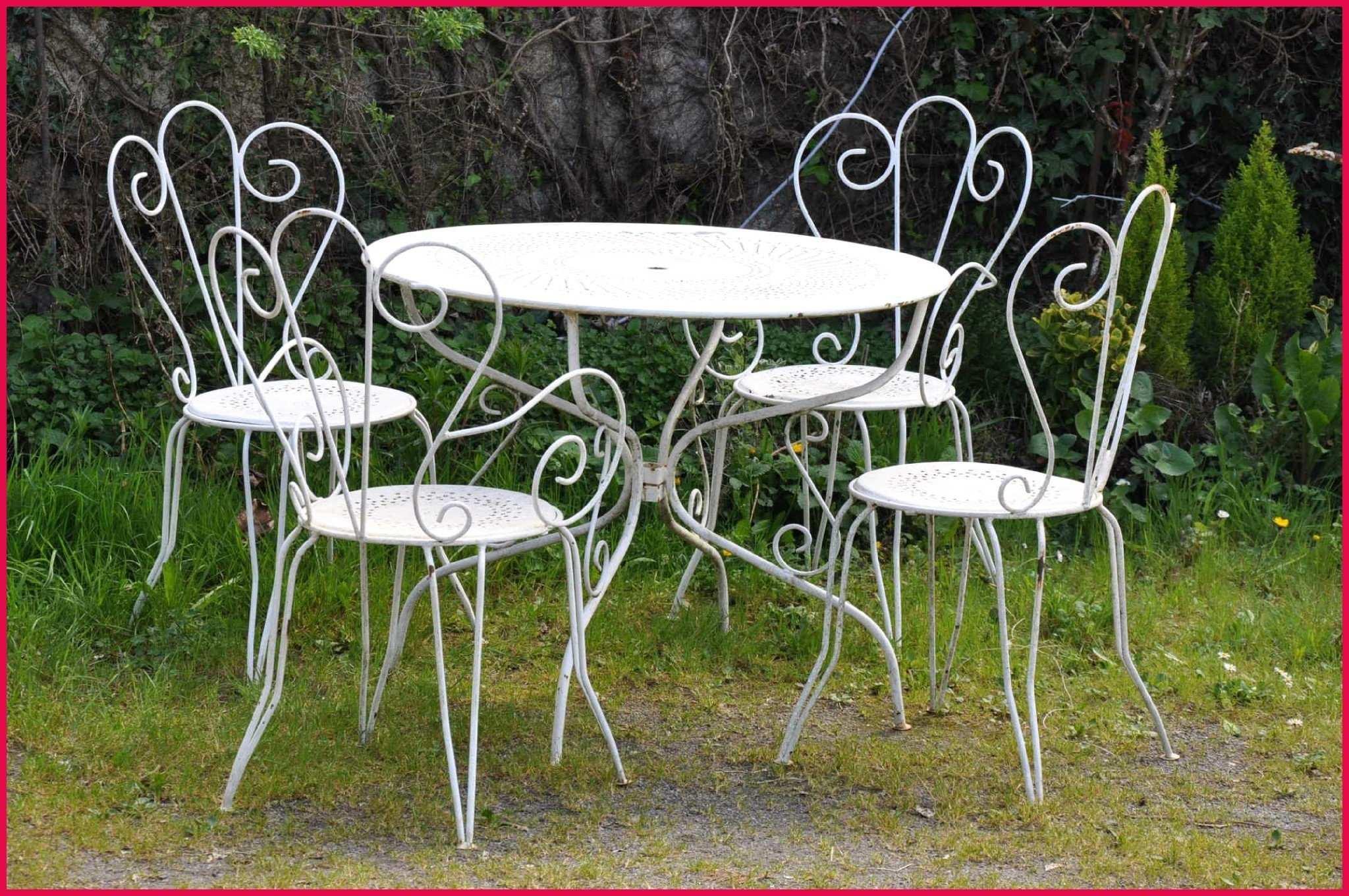 Salon de jardin en fer romantique - Abri de jardin et ...